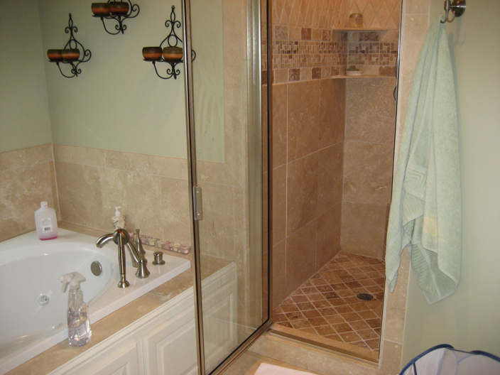 Brushed Nickel Custom Glass Shower Custom Showers Fs