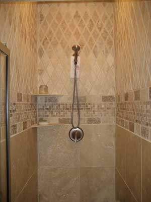 of our custom tile showers that we create and install this design