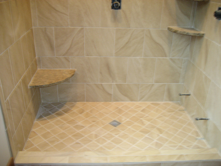 Shower floor tiles for Bathroom floor tile ideas